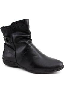 Bota Ankle Boot Aymee 021 Feminina - Feminino-Preto