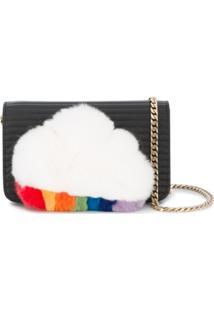 Les Petits Joueurs Ginny Shoulder With Fur Cloud Detail - Preto