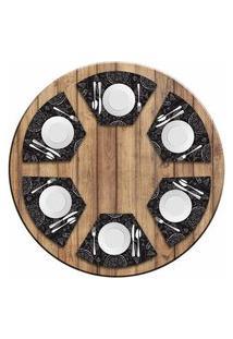 Jogo Americano Love Decor Para Mesa Redonda Wevans Pizza Kit Com 6 Pçs
