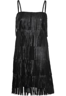 Vestido Franjas Valentine - Preto