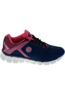 Tênis Lynd Ground Corrida Caminhada Feminino - Feminino-Azul Petróleo+Pink