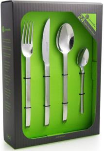 Faqueiro Verde Liso - 24 Peças