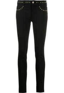Versace Jeans Couture Calça Jeans Skinny Com Tachas - Preto