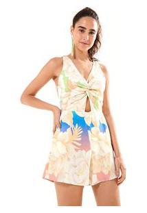 3e6c5a0f2 Vestido Curto Premium Farm Multicolorido Chita Est  Lumi Reduzida Multicolorido Lumi