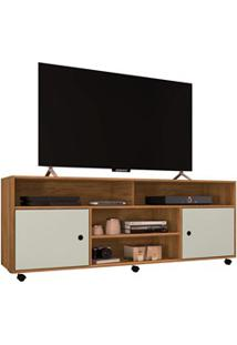 Rack Para Tv 2 Portas Com Rodízios Reno Freijó/Cinza Cristal - Móveis