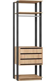 Closet Com 3 Gavetas E 1 Prateleira 1004 - Be Mobiliário
