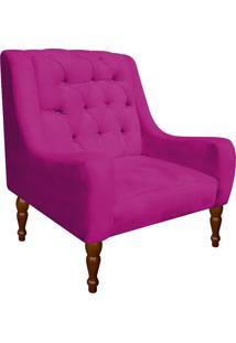 Poltrona Decorativa Maia Suede Pink - D'Rossi