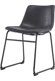 Cadeira Turtle Assento Courino Preto Com Base Aco Preto - 50877 - Sun House