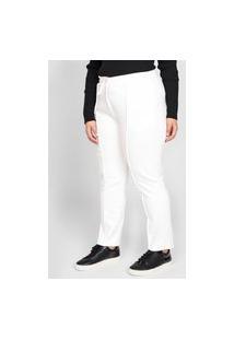 Calça Calvin Klein Jeans Slim Amarração Branca