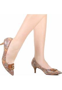 Sapato Scarpin Jorge Bischoff Bico Fino Marrom