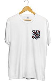 Camiseta Bsc Print Flowers Pocket Full Print - Masculino