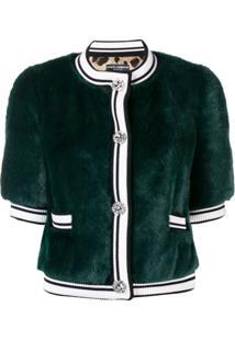 Dolce & Gabbana Jaqueta Cropped - Green