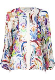 Etro Blusa De Seda Floral - Estampado
