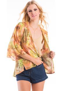 Kimono La Mandinne Maxi Estampado