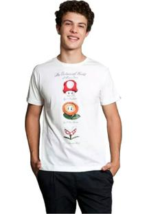 Camiseta The Botanical World Of Mario Geek10 - Branco