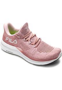 Tênis Fila Racer Knit Energized Feminino - Feminino-Rosa Claro