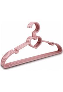 Cabide Com 5 Peças - Bebê Jacki Design Lifestyle Rosa