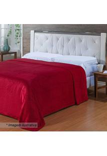 Cobertor Bordado Super King Size- Vermelho- 240X260Cniazitex