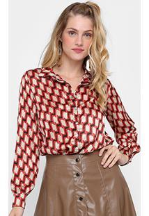 255e8022b0 Camisa Cetim Estampada feminina