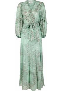Ba&Sh Vestido Longo Com Estampa Floral - Verde