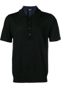Nº21 Camisa Polo De Tricô - Preto