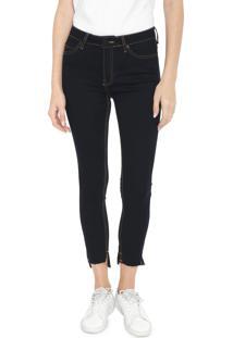 Calça Jeans Calvin Klein Jeans Skinny Pespontos Azul-Marinho