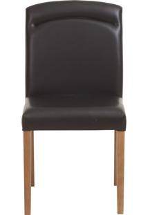 Cadeira Rosana - Couro Preto