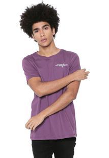 Camiseta Iódice Estampada Roxa