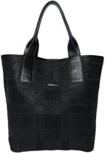 Bolsa Couro Griffazzi Shopping Bag Feminina - Feminino-Ouro