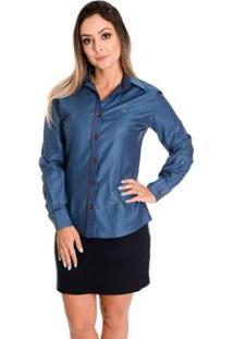 Camisa Pimenta Rosada Monique - Feminino-Azul+Vermelho