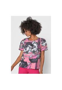 Blusa Lança Perfume Abstrata Pink