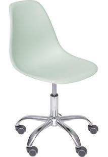 Cadeira Com Rodízios 1102-Or Design - Verde Claro