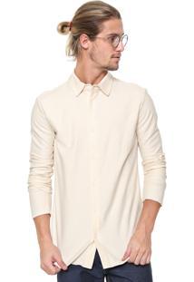 Camisa Osklen Reta Rustic Bege