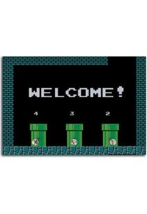Porta Chaves Super Mario Bros Canos Welcome