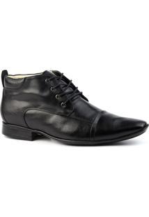Bota Social Masculino 7969 Em Couro Jade Doctor Shoes - Masculino-Preto