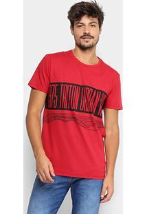 Camiseta Triton1975 Urban Masculina - Masculino-Vermelho