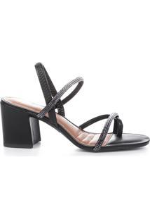 Sandália Salto Strass Dakota Feminina Z8042