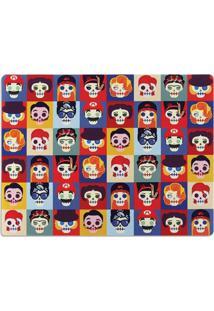 Jogo Americano Caveiras Famous Geek10 Multicolorido