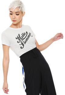 Camiseta Ellus 2Nd Floor Hello Summer Branca