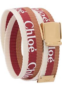 Chloé Pulseira Valmy Com Logo - Vermelho