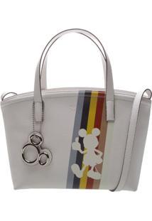 Bolsa Mickeyâ® Com Recortes & Bag Charm- Branca & Vermelharezzo & Co.