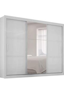 Guarda-Roupa Casal Com Espelho Malma 3 Pt Branco