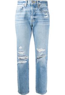 Frame Calça Jeans Reta Le Original Cintura Alta - Azul