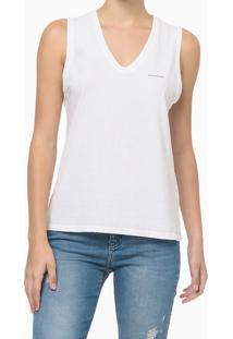 Blusa Sm Slim Reat Gv Logo Peito - Branco - P