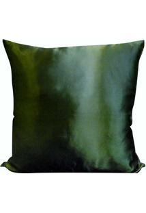 Capa Para Almofada Cetim Liso 45X45 - Perfil Matelados - Verde Escuro