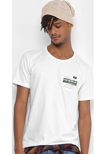 Camiseta Colcci Bolso Estampa Costas Masculina - Masculino-Off White