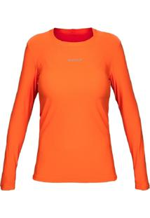 Camiseta Curtlo Active Fresh Ml - Fem. Laranja Gg - Kanui