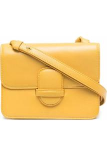 Rejina Pyo Bolsa Transversal Com Estampa De Logo - Amarelo