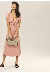 Vestido Mídi Amarração Rosa Wan - Lez A Lez