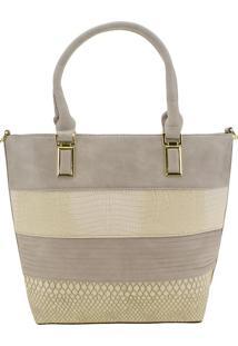 Bolsa Feminina Arara Dourada - T287 Cinza